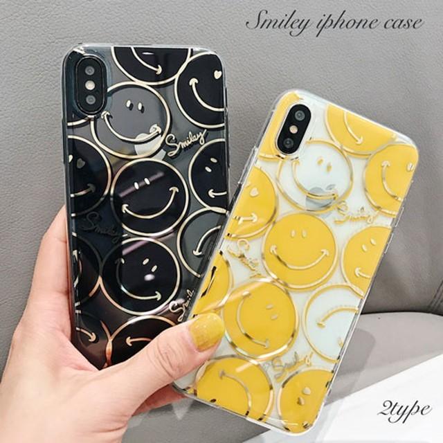 iPhoneケース iPhoneXR iPhone8 iPhone7 iPhoneXS 携帯ケース 韓国 スマホケース スマイル ニコちゃん キャラクター シンプル