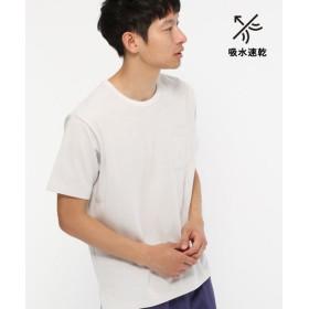 (LAKOLE/ラコレ)【吸水速乾】襟ジャカードメッシュTシャツ/ [.st](ドットエスティ)公式