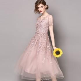 20代 まるでお姫様のようなふんわりシフォン素材のロング丈丈ドレス  お呼ばれ 大人かわいい ワンピース 結婚式 ドレス フォーマルドレス