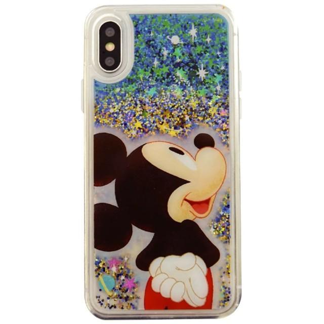 ディズニーキャラクター iPhoneXR対応グリッターケース ミッキーマウス