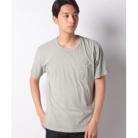コムサイズム 胸ポケット付き Tシャツ ユニセックス ライトグレー L 【COMME CA ISM】