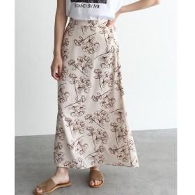 OZOC / オゾック [洗える]大判花柄マキシスカート