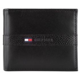 トミーヒルフィガー 二つ折財布 31TL25X001 メンズ 折財布 小銭入れ付き BLACK ブラック
