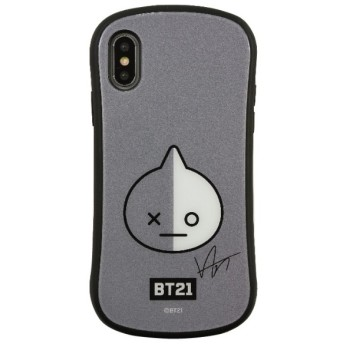 BT21 iPhoneXR対応ハイブリッドガラスケース VAN