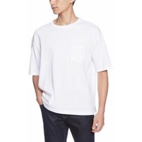 (ユナイテッドアスレ)UnitedAthle 5.6オンス ビッグシルエット Tシャツ(ポケット付) 500801 001 ホワイト L