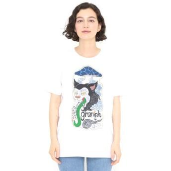 [マルイ] 【ユニセックス】コラボレーションTシャツ/猫舌茸 タテロゴ (石黒亜矢子)/グラニフ(graniph)