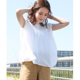ソーシャルガール 刺繍ノースリーブブラウス レディース オフホワイト M 【SocialGIRL】