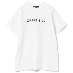 (BEAMS WOMEN/ビームス ウィメン)Chari & Co./THE FLOWER Tシャツ/レディース WHITE 送料無料