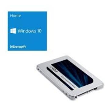 Windows 10 Home 64Bit DSP + Crucial CT500MX500SSD1/JP バンドルセット