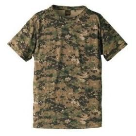 ds-1664215 自衛隊海外派遣使用・立体裁断・吸汗速乾さらさらドライ 迷彩 Tシャツ ピクセルウッドランド XL (ds1664215)