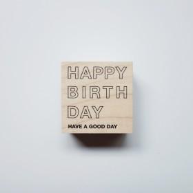 スタンプ - HAPPY BIRTHDAY -