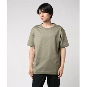 ESTNATION / クリスタルジャージー半袖Tシャツ グリーン/SMALL(エストネーション)◆メンズ Tシャツ/カットソー
