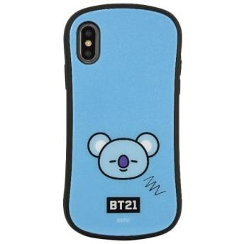 BT21 iPhoneXs Max対応ハイブリッドガラスケース KOYA