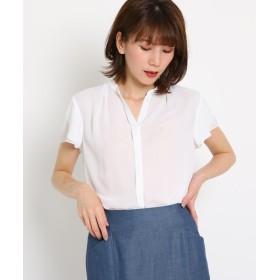 COUP DE CHANCE(クードシャンス) 【洗える】ジョーゼットシフォン シアーシャツ