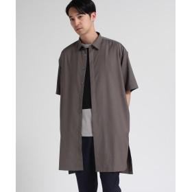 tk.TAKEO KIKUCHI(ティーケー タケオ キクチ) ツイルロングシャツ 5分袖