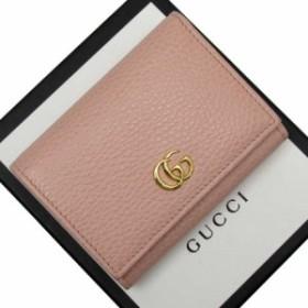 【定番人気】【中古】グッチ Wホック三つ折り財布  ダブルG レディース ピンクxゴールド h21829