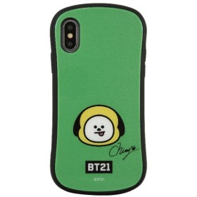 BT21 iPhoneXR対応ハイブリッドガラスケース CHIMMY