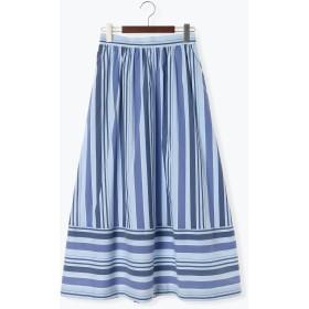 【6,000円(税込)以上のお買物で全国送料無料。】ストライプ切替スカート