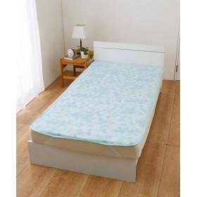 接触冷感 レースキルト敷パッド(リーフ) 敷きパッド・ベッドパッド