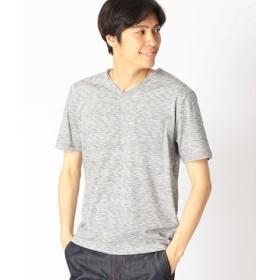 (COMME CA ISM/コムサイズム)スペースダイ VネックTシャツ/メンズ グレー