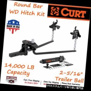 10,000 lbs CURT 17302 Long Trunnion Bar Weight Distribution Hitch GTW 2-Inch Shank