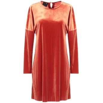 《セール開催中》PEPITA レディース ミニワンピース&ドレス 赤茶色 40 レーヨン 90% / ポリウレタン 10%