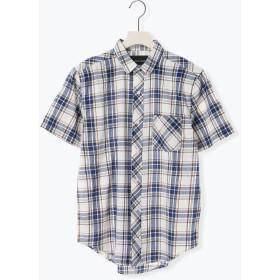 【6,000円(税込)以上のお買物で全国送料無料。】半袖マドラスチェックシャツ