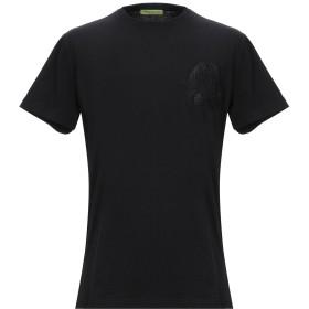 《期間限定 セール開催中》VERSACE JEANS メンズ T シャツ ブラック XL コットン 100%