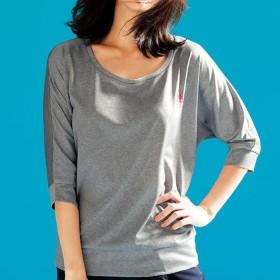ベルーナ <ルコックスポルティフ>メッシュ素材ジャガード柄ドルマンTシャツ グレー M レディース