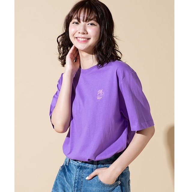 [マルイ]【セール】ワンポイントフルーツ刺繍Tシャツ/ウィゴー(メンズ)(WEGO)
