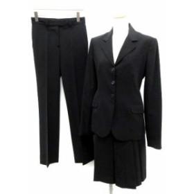 【中古】セオリー theory スーツ セットアップ 上下 3点 ジャケット パンツ スカート 4 0 黒 ブラック /TK レディース