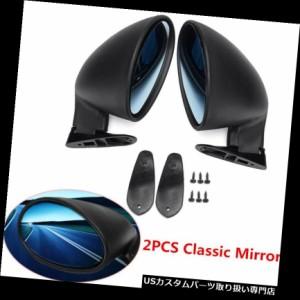 Pair Universal Classic Car Door Wing Side Rear View Mirror /& Gaskets Matte Black