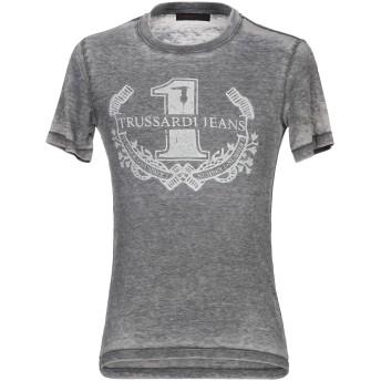 《9/20まで! 限定セール開催中》TRUSSARDI JEANS メンズ T シャツ グレー S コットン 50% / ポリエステル 50%