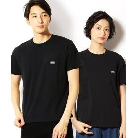 【55%OFF】 コムサイズム ポケットワッペン 半袖Tシャツ ユニセックス ブラック M 【COMME CA ISM】 【タイムセール開催中】