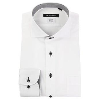 【THE SUIT COMPANY:トップス】【COOL MAX】ホリゾンタルカラードレスシャツ 織柄 〔EC・BASIC〕