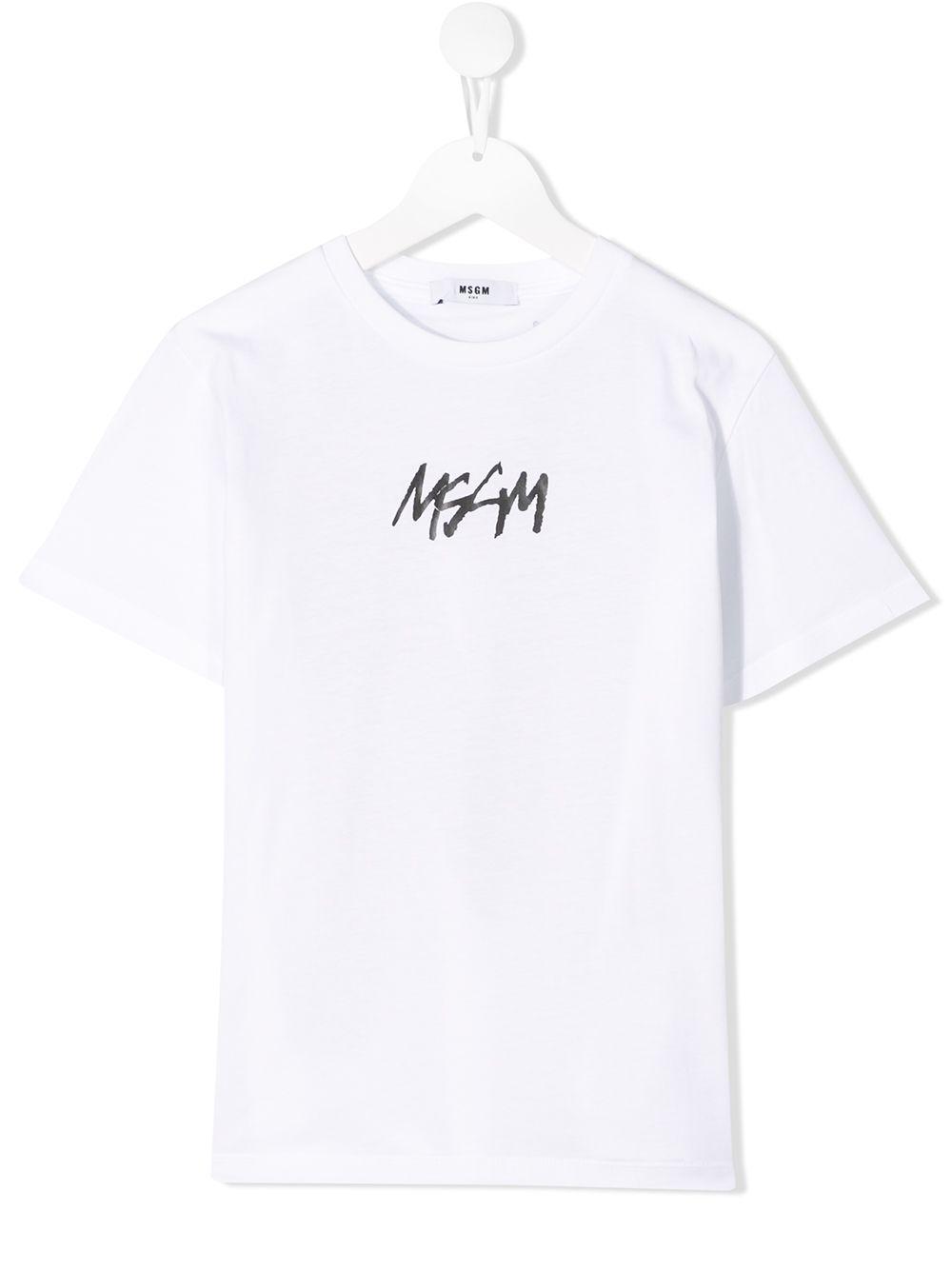 22d88c33755222 Msgm Kids ロゴ クルーネック Tシャツ - ホワイト 通販 LINEポイント最大4.0%GET   LINEショッピング【公式】