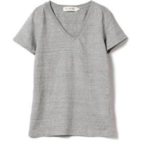 ビームス ウィメン Ray BEAMS / コットン 天竺 Vネック Tシャツ レディース GREY 1 【BEAMS WOMEN】