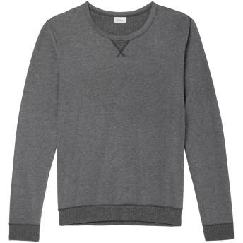 《セール開催中》SCHIESSER メンズ スウェットシャツ 鉛色 L コットン 100%