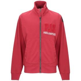 《期間限定 セール開催中》PARAJUMPERS メンズ スウェットシャツ レッド S コットン 100%