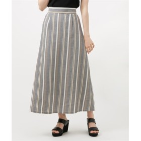 マルチストライプフレアスカート (ひざ丈スカート),skirt