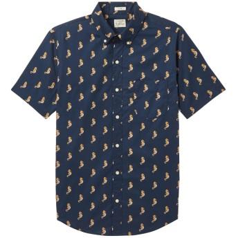 《期間限定セール開催中!》J.CREW メンズ シャツ ダークブルー XS コットン 100%