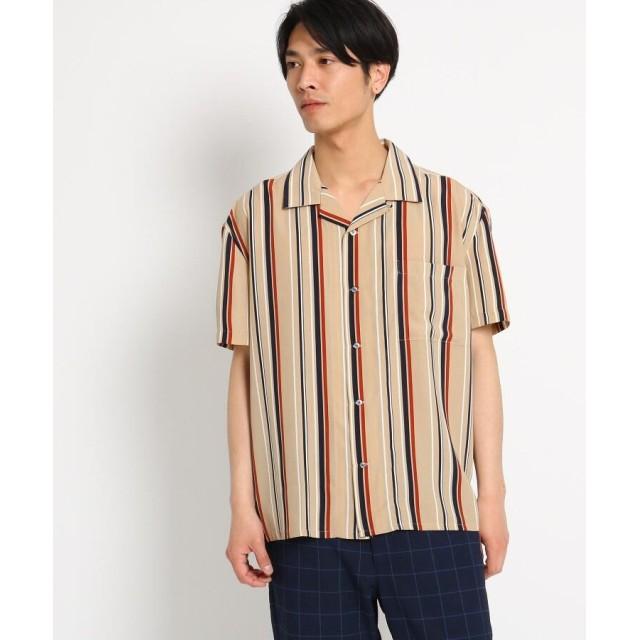 THE SHOP TK(Men)(ザ ショップ ティーケー(メンズ)) 【WEB限定】ビッグシルエットストライプ開襟シャツ/オープンカラーシャツ