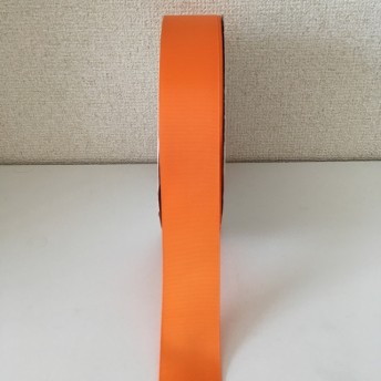 グログランリボン 4cm 40mm 38mm ビビットオレンジ #24 橙