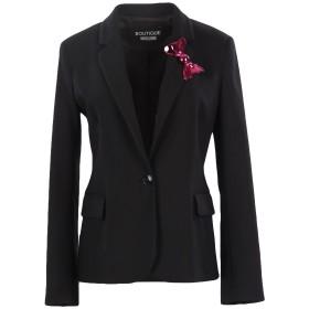 《期間限定セール開催中!》BOUTIQUE MOSCHINO レディース テーラードジャケット ブラック 40 バージンウール 98% / 指定外繊維 2%