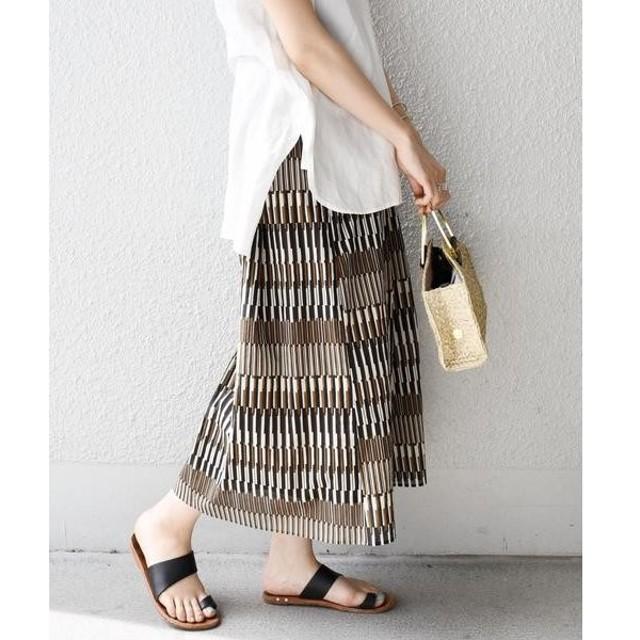 SHIPS for women / シップスウィメン 【手洗い可能】ストライププリントフレアスカート◇