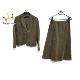 レリアン Leilian スカートスーツ サイズ9 M レディース 美品 カーキ   スペシャル特価 20190821