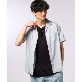 【50%OFF】 エディフィス ライトオープンカラー シャツ メンズ サックスブルー M 【EDIFICE】 【タイムセール開催中】