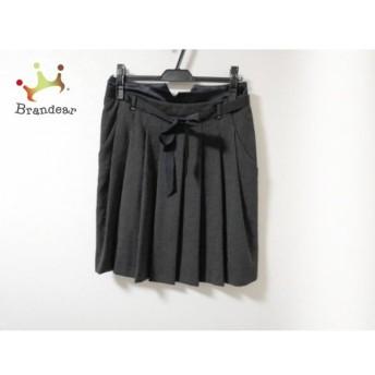 パオラ フラーニ PAOLA FRANI スカート サイズ40 M レディース 美品 黒×白 ドット柄/プリーツ スペシャル特価 20190912