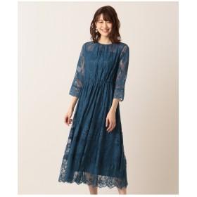 組曲 【結婚式やパーティーに】総レースロング ドレス その他 ワンピース,ブルー系