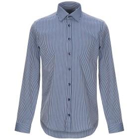 《期間限定セール開催中!》HAMAKI-HO メンズ シャツ ブルー M コットン 100%